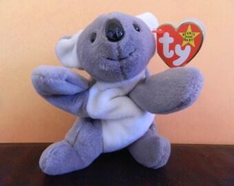 """TY Gray Koala Bear Beanie Baby """"Mel"""" (B)"""