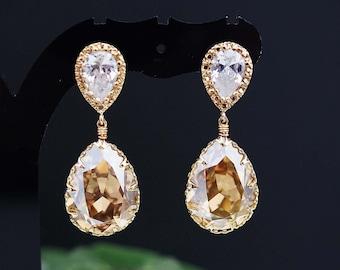 Wedding Jewelry Bridal Earrings Bridesmaid Earrings Bridesmaid gifts Bridesmaid Jewelry Dangle Earrings Swarovski Crystal Tear drop Earrings