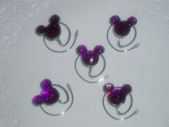 Disney Wedding Hair Swirls-Hidden Mickey Mouse Hair Coils-Ursula Purple-Flower Girl