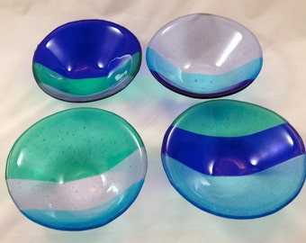 Fused Glass Bowl quatre Collection