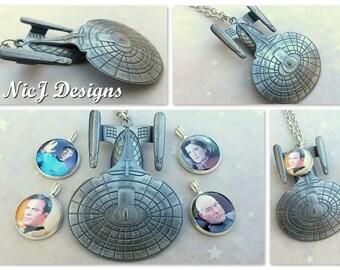 Star Trek Enterprise 3D Pendant and Resin Charm