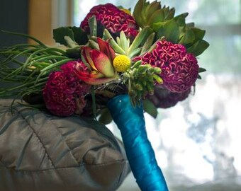 Beautiful Custom Bridal Succulent Bouquet | Deposit