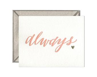Always letterpress card