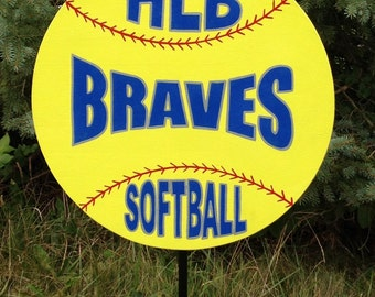 Softball fast pitch & slow pitch Custom, handmade, personalized wooden sports yard signs