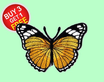 Orange Butterfly Patches Iron On Embroidered Patches Wholesale Patches