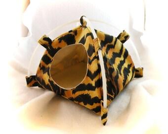 Tiger Stripes Tent Sleep Sack Bed for Hedgehogs Rats Small Mammals Zhu Zhu