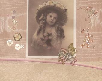 Victorian Crazy Quilt Inspiration Embellishment Kit Serene Spring Girl