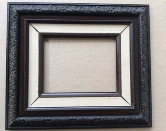 Ornate Hand Carved Hardwood Frame with Inlay Frame