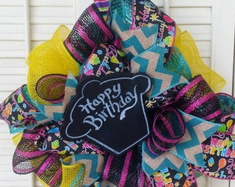 Birthday Wreath Cupcake Birthday Decor Chalkboard Birthday Decoration Cupcake Birthday Decor Birthday Party Decor Cupcake Wreath Celebrate