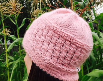 Pink Cloud HAT PATTERN/Womens Hat Pattern Digital Download/Instant PDF Download