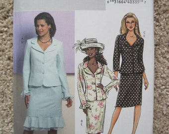 UNCUT Misses Jacket and Skirt - Size 8 to 14 - McCalls Pattern B4689