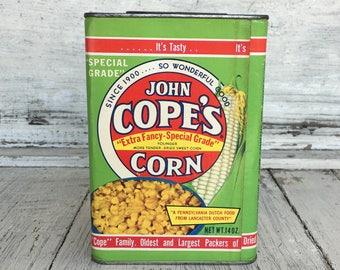 Vintage John Cope's Corn Can