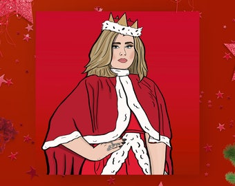 Christmas card - Adele - Pop culture card - Greeting Card