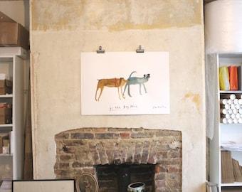 Original Faye Moorhouse painting - At the Dog Park - FREE SHIPPING