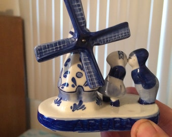 Delft windmill and figurines