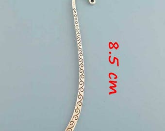 15 bookmarks curved 8.5 cm antique silver