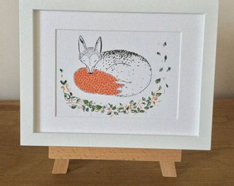 In the Woods Freddie the Fox Giclee Print