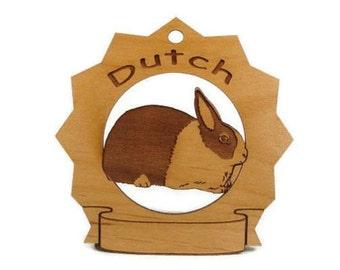 Dutch Rabbit Personalized Wood Ornament