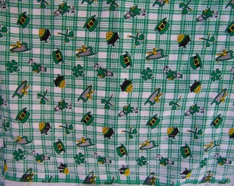 St Patricks Day Fabric Bolt End Remnant
