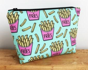 Cute Makeup Bag - Best Friend Gift - Small Makeup Bag - Mint and Pink Bag - Cute Zipper Bag - Makeup Pouch - Make Up Bag - Teen Girl Gift
