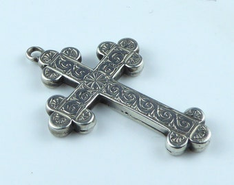 Large ornate hollow Silver cross