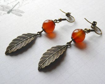 Carnelian drop earrings - Still Life-