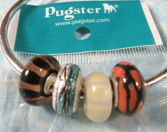 Choice of Color 1 Pugster Brand Murano Glass Euro Bead (B493a-d)