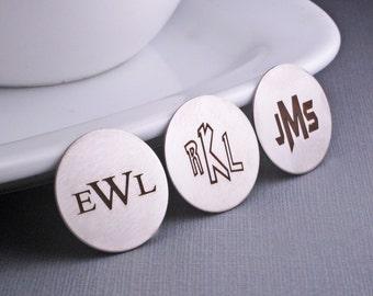 Monogram Golf Ball Marker, Pokemon Font Monogrammed Groomsman, Wedding Golf Gift for Groomsmen