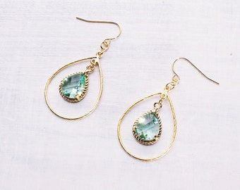 Earring aquamarine