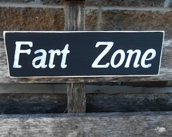 Fart  Zone Bathroom decor gag gift mancave sign wood wall art manly wall decor
