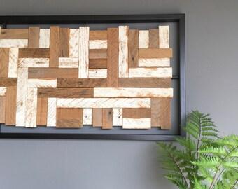 MOSAIC reclaimed wood art