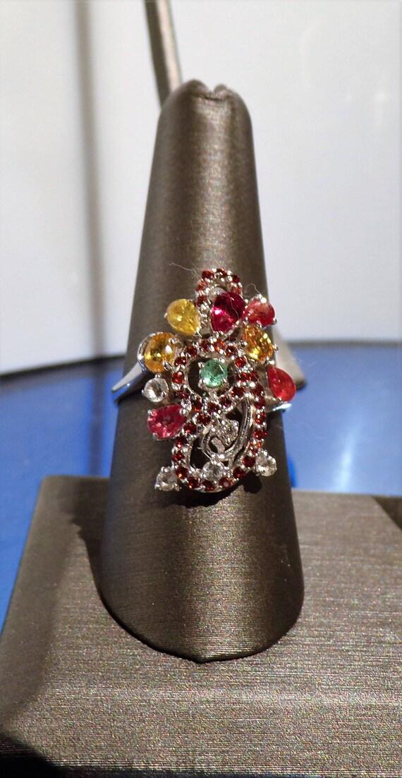 Multi-gem Cocktail Ring