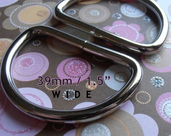 D Rings 30 pieces 1.5 Inch Nickel Unwelded D rings - 39 mm for bags and other sewing projects