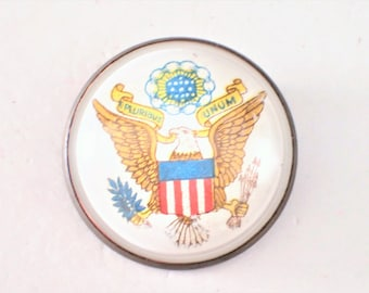 Patriotic Bridle Rosette Great Seal Of The United States Eagle Flag