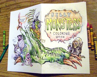 Silly Monsters, a Coloring Book