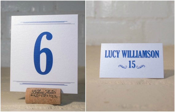 Pumpkin Carnival Place Cards and Table Number Cards, Fall/Autumn Wedding Reception Seating Cards, Orange, Gray & Blue Escort Cards