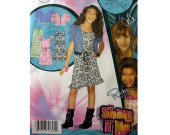 """Disney Shake it Up """"CeCe"""" Teen Girl Sundress and Jacket Sewing Pattern Size 7, 8, 10, 12, 14, 16 Bust 26"""" - 34"""" Uncut Simplicity 1895"""