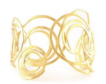 Statement Gold Cuff Bracelet, gold statement cuff, gold cuff, cuff bracelet, gold bracelet, gold bracelet cuff, statement bracelet