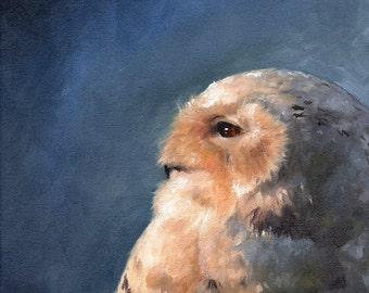 SNOWY OWL ART - owl print, owl oil painting, owl painting, owl art print, owl lover gift, owl artwork, snow owl decor, owl wall art
