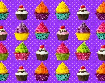 Cupcake euro cotton lycra knit 1/2 yard