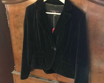 Ladies cropped velvet XL bolero jacket