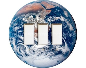 Planet Earth from Space Triple Decora Rocker Switch Plate Cover