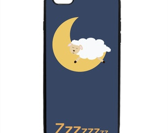 Sleepy Sheep Print Pattern Phone Case Samsung Galaxy S5 S6 S7 S8 S9 Note Edge iPhone 4 4S 5 5S 5C 6 6S 7 7S 8 8S X SE Plus
