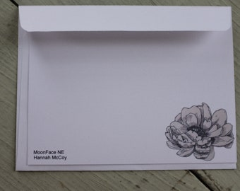 Peony Note Card (Pack of 5)