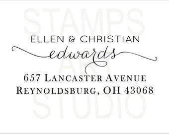 Self Inking Address Stamp, Wedding Stamp, Address Stamp, Custom Address Stamp, Return Address Stamp, Housewarming Gift ArtS011