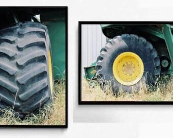 Tractor Wheels Wall Art Set, Art Farm Photography, Wall Art, Home Decor, Rustic Photography, Photography Sets, Tractors, Green Wall Art