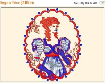 80% Until New Year - Royal Woman - Embroidery Design - Instant Download - Machine Embroidery Design