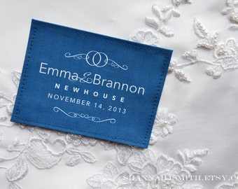 Personalized Something Blue Label • Wedding Dress Label • Unique Bridal Shower Gift • Something Old, New, Borrowed, Blue