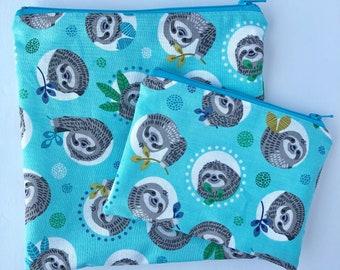 Sloths Sandwich Bag -  Snack Bag - Snack Bag Set - Kids - Back to School - Kids Snack Bag - Zippered Snack Bag - Reusable