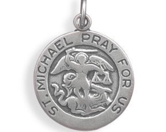 St. Michael Charm, Sterling Silver Nr 73622